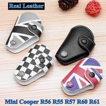 """Для Mini Cooper R56 R55 R57 R60 R61 1 шт. 4 цвета кожаные автомобильные подушки с принтом флага Великобритании """"Юнион Джек брелок автомобиля сумка-Футляр для ключей крышка Держатель автомобиля Средства для укладки волос"""