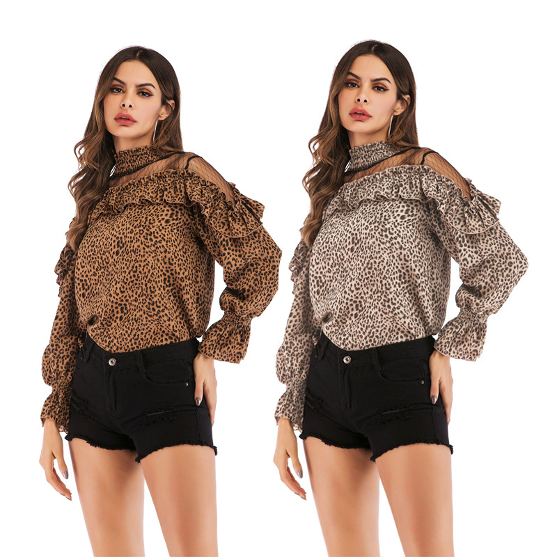 Attractive Girls Leopard Print Slim Bandeau Tops Lengthy Sleeve Brief Bodycon Shirts Clubwear Clothes NEW Blouses & Shirts, Low-cost Blouses & Shirts, Attractive Girls Leopard Print Slim Bandeau Tops...