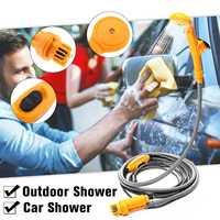 2.5 L/M Portable 12V Electric Car Shower Outdoor for Camper Caravan Van Washer Tools Travel Bathing Shower Pump Pipe Kit