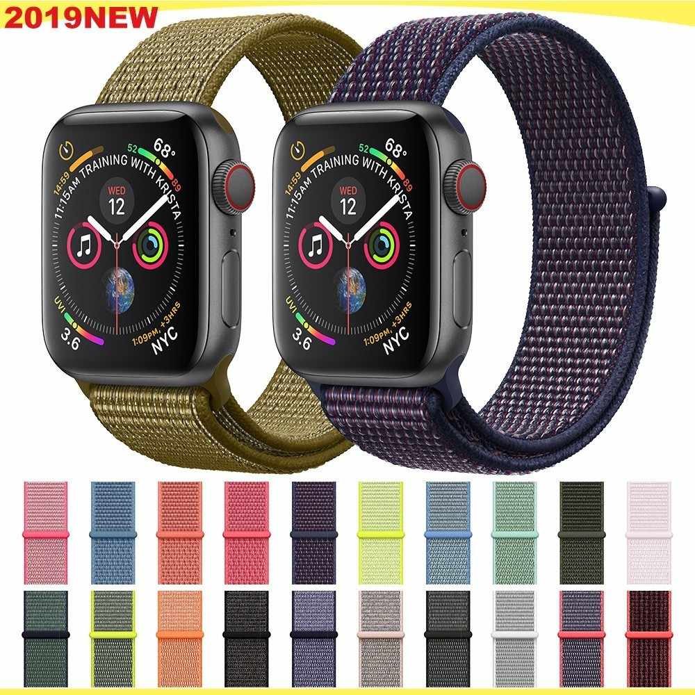 Deporte bucle de correa para apple watch banda 4 3 iwatch banda 44mm 40mm correa apple watch 4 Velcro pulsera reloj de 42mm 38mm accesorio