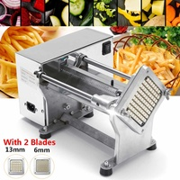 Electric Potato Chip Cutter AC110V 220V French Fries Cutting Slicer Stainless Steel Machine EU plug 36x26x18cm Copper Movement