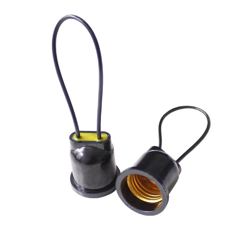 CLAITE Waterproof E27 Copper Wire Light Bulb Socket Lamp Holder Base For Indoor Outdoor Lighting