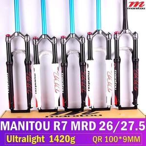 """Image 3 - 1420g Manitou R7 MRD אופניים גז מזלג אופני הרים 26 אינץ 27.5 """"ידני שלט רחוק מנעול 100mm נסיעות השעיה מזלג 2020"""