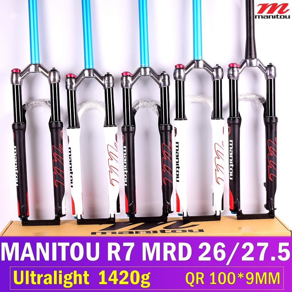 "9mm Matt Black, 26/"" or 27.5/"" 1-1//8 Travel: 100mm Manitou R7 MRD Front Fork"