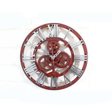 New 3D Wall Clock 30cm Antique Gear Modern Design Retro Large For Home Decoration Vintage Watch Decor