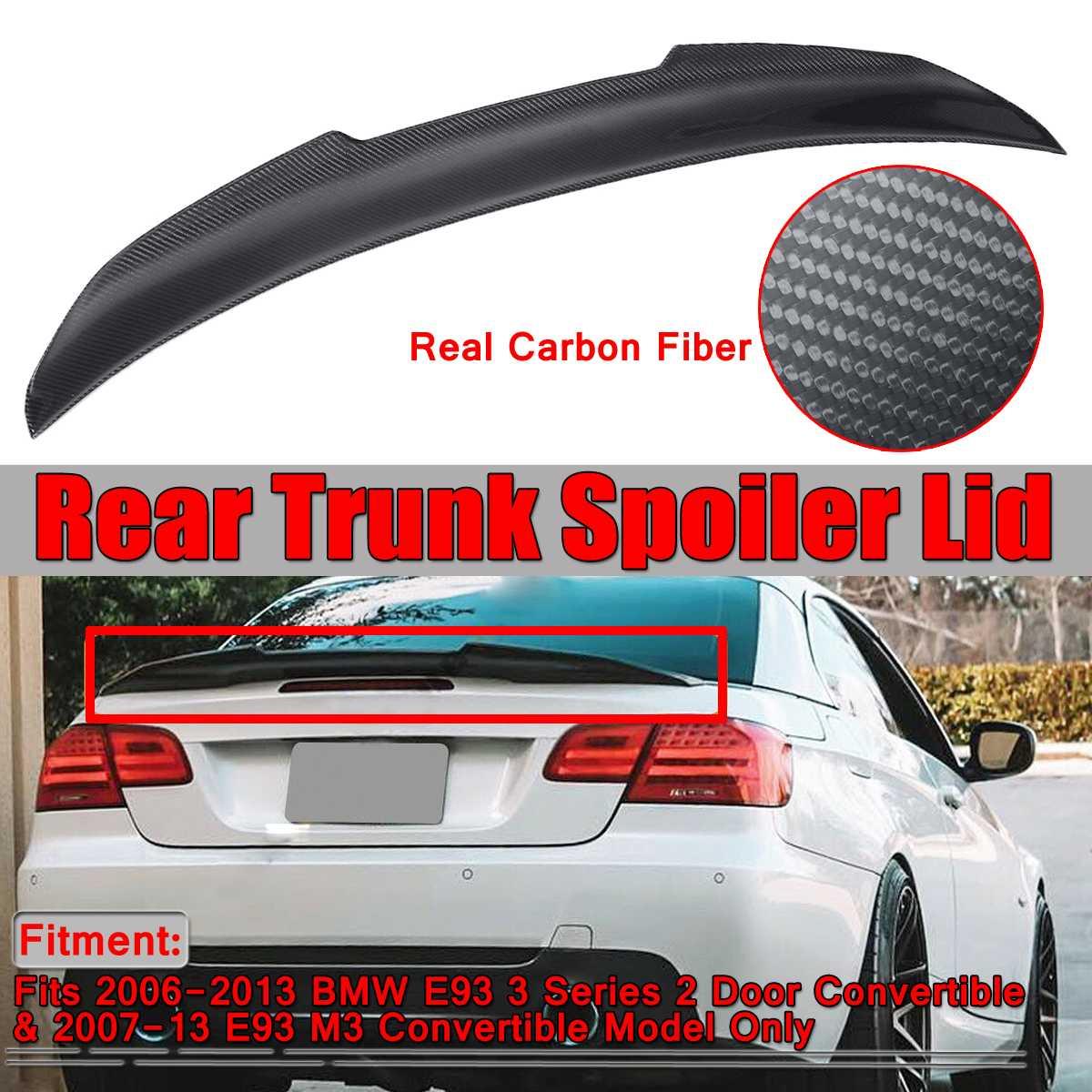Carbon Fiber Rear Trunk Spoiler for 07-13 BMW E93 3 Series M3 Convertible Type D