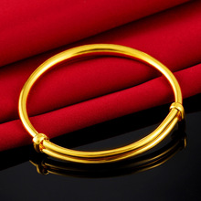 Vietnam Sand Gold Bangle for Child simple No Fade Bracelets Adjustable designs Baby Gift