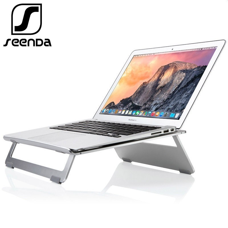SeenDa Brand Silver Universal Aluminum Laptop Stand Tablet Holder Bracket Cooling Desk Pad for MacBook Pro Air 11 to 17SeenDa Brand Silver Universal Aluminum Laptop Stand Tablet Holder Bracket Cooling Desk Pad for MacBook Pro Air 11 to 17