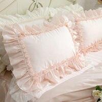2pcs Pillow Case European Princess Big Ruffle Pillow Cover Handmade Lace Pillow Cases Embroidery Pillow Sham Sweet Cake Layers10