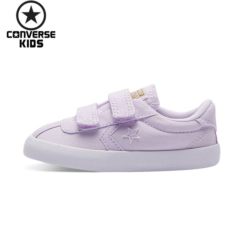 CONVERSE Children's Shoes Violet Magic Subsidies Girl Baby Low Help Canvas Breathable Shoes #760053C converse child shoes classic hatch laugh low help magic subsidies canvas children shoes 362179c