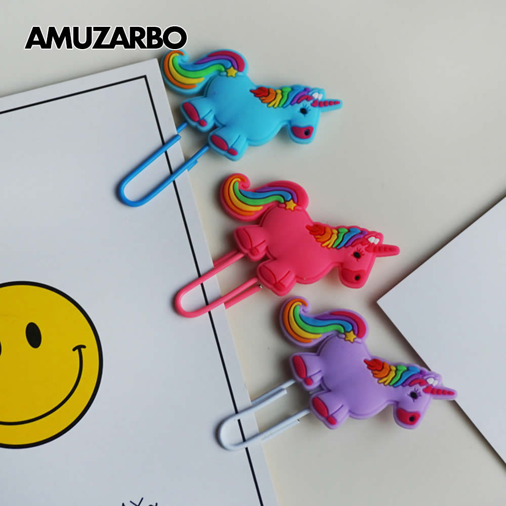 Creative Owl Unicorn Bookmark Cute Book Markers Paper Clip For Kids Students Office School Supplies Korean Stationery