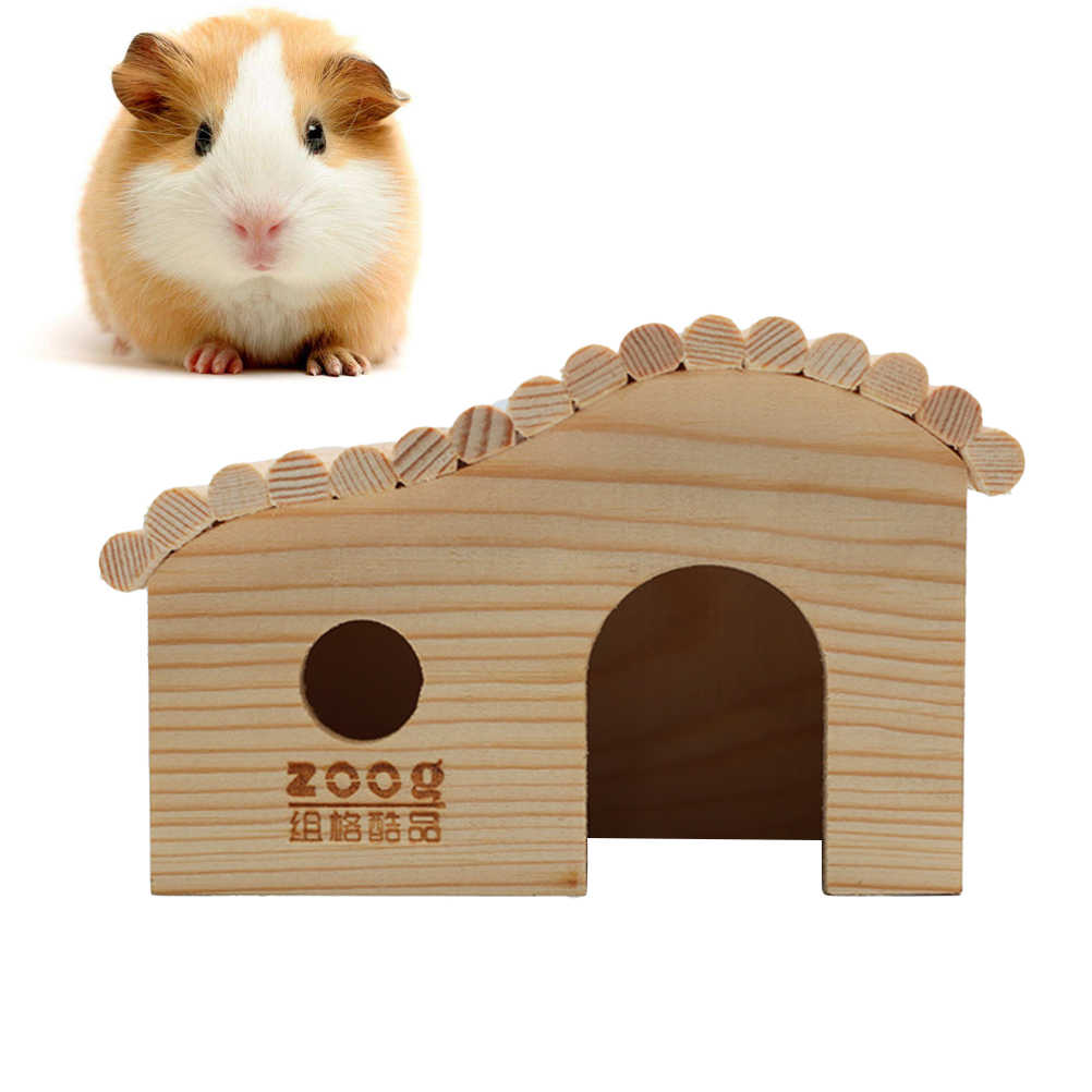 1 шт. домик для домашних животных Деревянный нетоксичный маленький прочный милый домик для домашних животных Домик гнездо для хомяков домашних животных мыши
