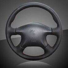 Genuine Leather Car Braid On The Steering Wheel Cover for Nissan Almera N16  Pathfinder Primera Paladin 4421dbc71c9e