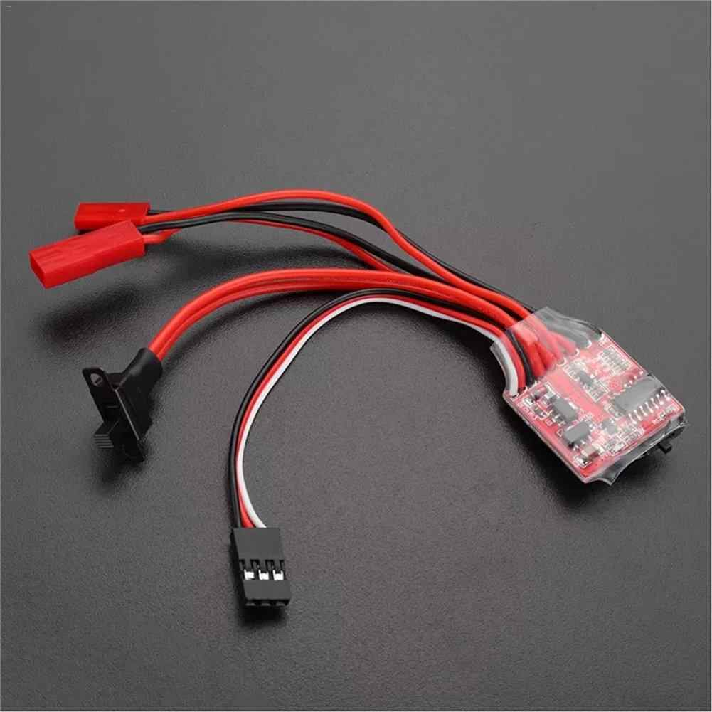 30A Mini Brush ESC Brake for RC Car/Boat Speed Controller with Brake for RC 1/16 1/18 Climbing RC Car Ship RC Car Parts