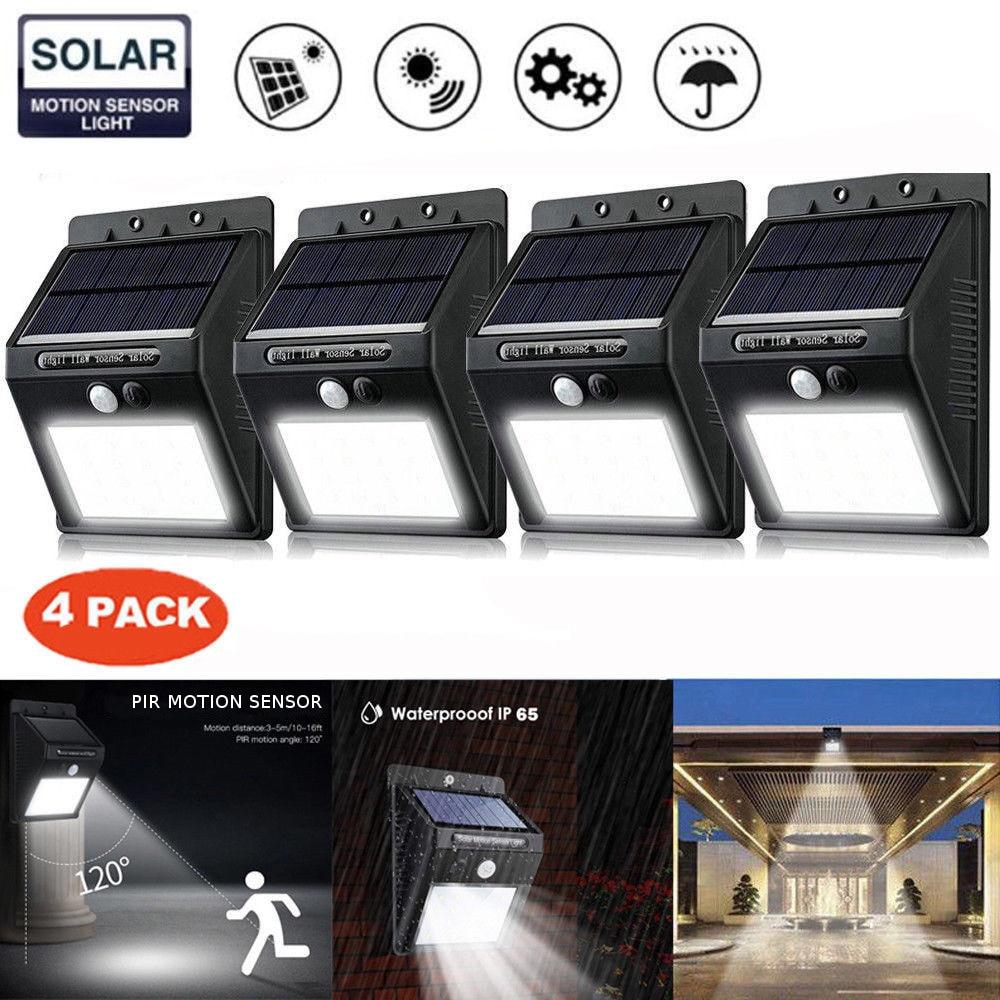 8/12/20/25/30/40 LED Solar Lamps Solar Power PIR Motion Sensor Wall Light Outdoor Waterproof Street Yard Path Home Garden Lamp