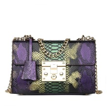Handbag Leather Snake Purse Chain Serpentine Bags SF