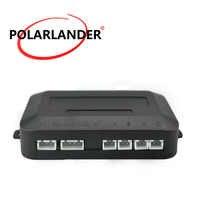 PolarLander 12 V Kit de capteur de stationnement de voiture 4 capteurs boîte principale pour système de Radar de secours inverse pour la plupart des voitures boîtier de contrôle Buzzer