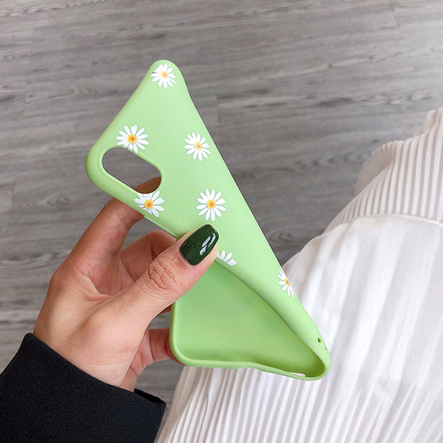 Soft Silicone Floral Patter Phone Case