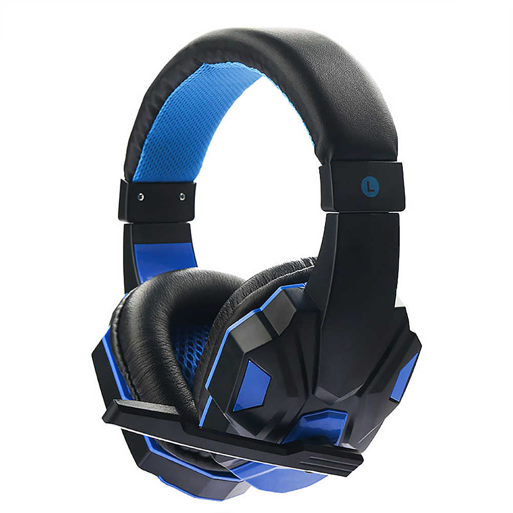 2019 Baru Deep Bass Permainan Headphone Stereo Over-Ear Gaming Headset Headband Earphone untuk Komputer PC Gamer Musik Stereo headphone
