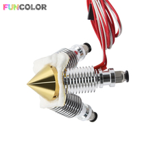 3 in 1 out Brass Diamond 0.4mm Nozzle Extruder J-head Multi V6 Bowden Extrusion Remote Hotend for 3D Printer Parts 12V 24W