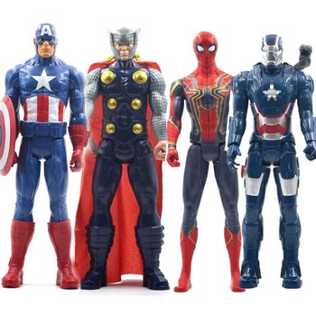5pcs lot marvel movie masks avengers hulk captain america batman spiderman ironman party mask boy gift action figures toys e 30cm Marvel Avengers Toys Thanos Hulk Buster Spiderman Iron Man Captain America Thor Wolverine Black Panther Action Figure Dolls