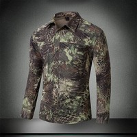 Mens Summer Quick Dry Camouflage Sleeve Detachable Shirt Outdoor Training Climbing Breathable Removable Two Parts Tactical Tops