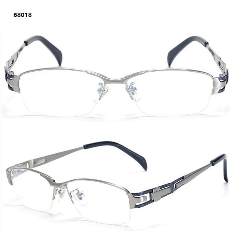 Vakuum High rim Optische Silver matt silver Geschäftsleute Blu Brillen End Bicolor Precription Qualität Farbe Half Reinem Titanium grey Schild Eletroplating Ip Black Cq8CrXw