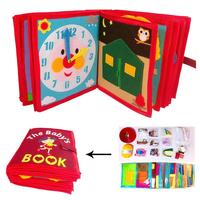 Kid's Cloth Book Non Woven Picture Book Manual Three Dimensional Book Early Childhood learning Resources Baby Book Toddler Toys