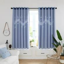 2pcs Curtains for Living Room Hollow Musical Notes Windows Blackout Curtains for Bedroom Home Window Decorative Drapes Curtain(China)