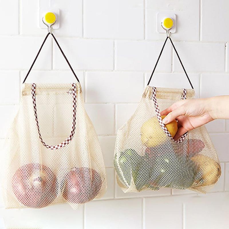 Fruitgroenten knoflookui opknoping opbergtas ademend herbruikbare netzakken organisator thuiskeuken intieme accessoires