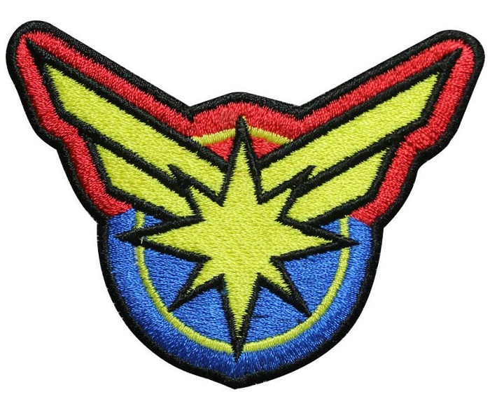 Captain Marvel iron on patches cloth badge fabrics applique Embroidered wholesale