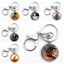 2019 New Arrival Alita Battle Angel keychain decoration cartoon anime series creative gift toys for children time gem glass(China)
