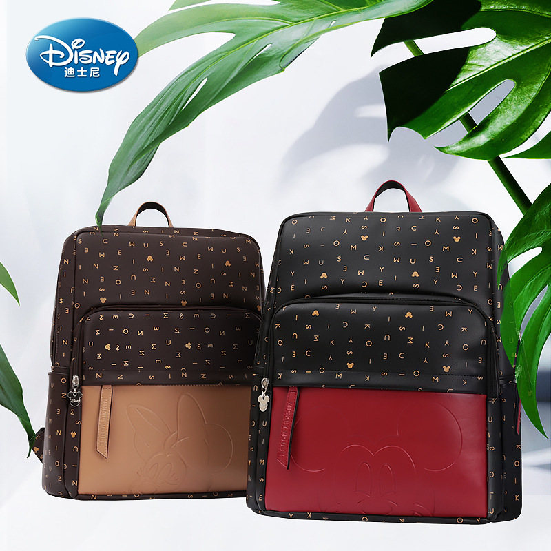 Disney PU Leather Large Capacity Insulation Bags Cartoon Pattern Kid Fashion USB Multifunctional Diaper Bag Travel BackpackDisney PU Leather Large Capacity Insulation Bags Cartoon Pattern Kid Fashion USB Multifunctional Diaper Bag Travel Backpack