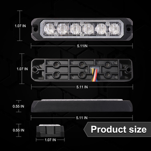 Image 5 - بوجراند رقيقة جدا Led فلاش ضوء إحترافي مقاوم للماء Ip65 ضوء وماض 24 فولت الإسعاف أضواء الطوارئ 18 واط