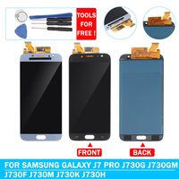 Screen Sensor Glass For Samsung J7 pro 2017 LCD Touch Screen Digitizer Assembly For Samsung Galaxy J7 Pro 2017 J730F J730M J730H