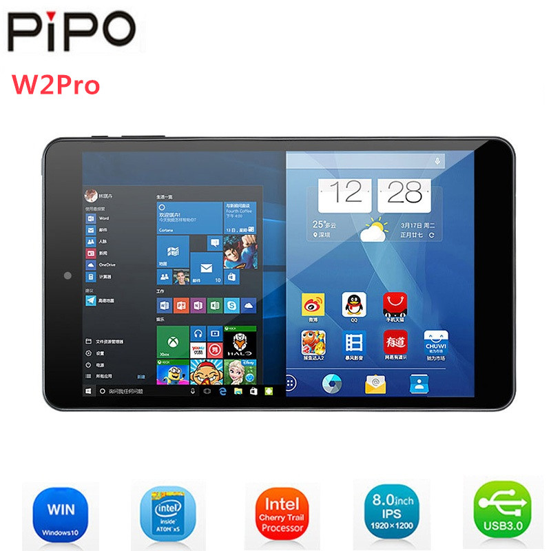 Tablettes Pipo W2PRO 8 ''IPS écran Windows 10 Intel Cherry Trail Z8350 Quad Core 2 GB RAM 32 GB ROM double caméra Wifi tablettes PC