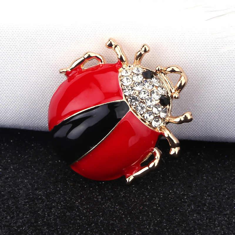 Sogno Della Caramella di Strass Carino Beetle Spille per Le Donne Spilli Insetto Brooch Dello Smalto Del Fumetto del Maglione Accessori Dei Monili Della Signora di 2019