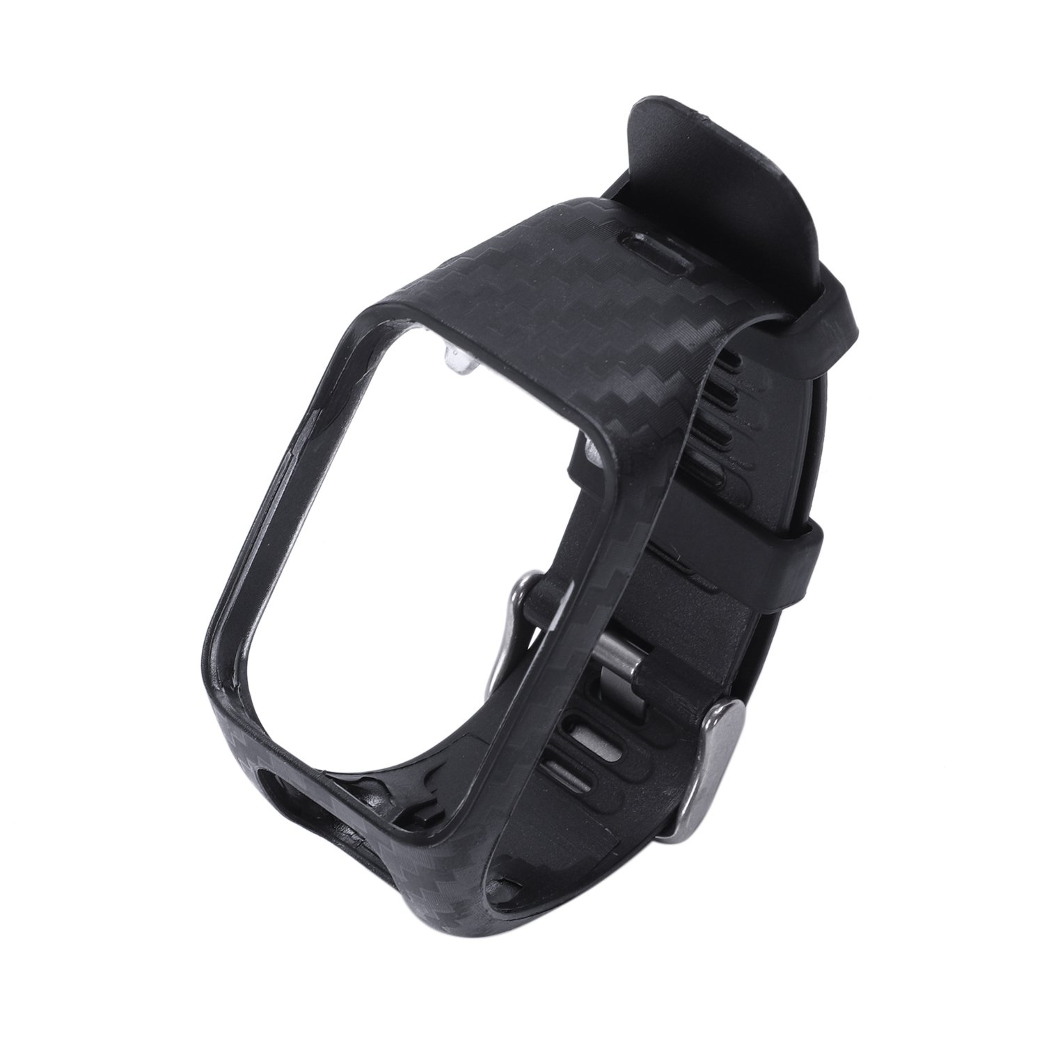 Watchband For Tomtom 2 3 Series Watch Strap Silicone Replacement Wrist Band Strap For Tomtom Runner 2 3 Gps Watch(Black)