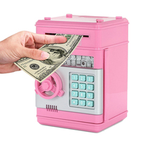 3 Colors Creative Money Bank Mini ATM Password Electronic Portable Coin Bank Piggy Bank Birthday Gift Piggy Bank For Kids