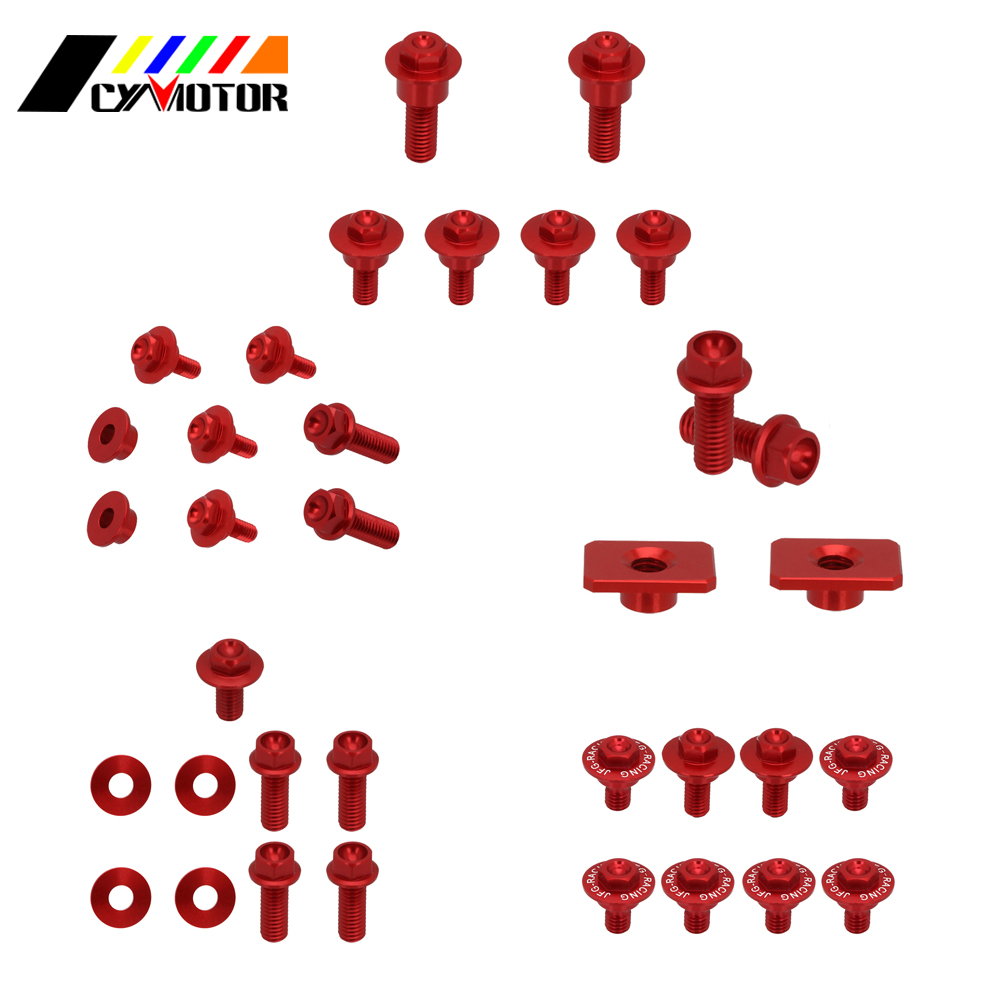 Dirt Bike Motocycle Plastic Body Parts Guard Screw Bolt For Honda crf450r crf250r <font><b>crf</b></font> 250r <font><b>450r</b></font> 2014 2015 <font><b>2016</b></font> image