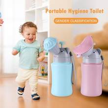2019 Baby Portable Travel Toilet Baby Travel Anti-leakage Potty New Cute Kids Portable Hygiene Toilet Urinal Boys Girls Pot Car(China)