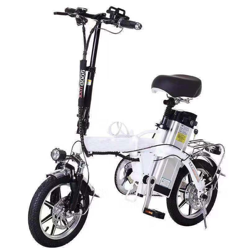 Electric Bicycle 14 Inch Wheel Motor Scooter And Bike 350 W high speed toothed motor 48 V / 10ah Lithium Battery