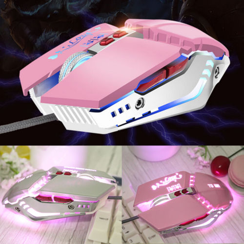 5500DPI LED Optical USB Gaming Mouse Mice Mute 7 Button Gamer Laptop PC Computer Mice For Pro laptop desktop video game