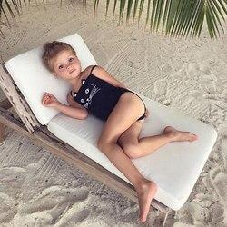 Купальник для мамы и дочки, женский, детский, для девочек, с милым котом, Цельный купальник, купальный костюм, бикини, пляжная одежда 5