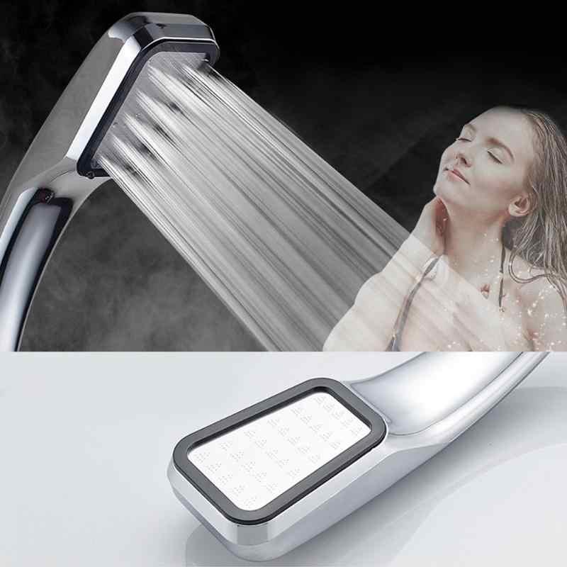 Alta pressão handheld cabeça de chuveiro chrome-placa painel streamline poupança de água quadrado banheiro 300 furos cabeça de chuveiro decoração da sua casa