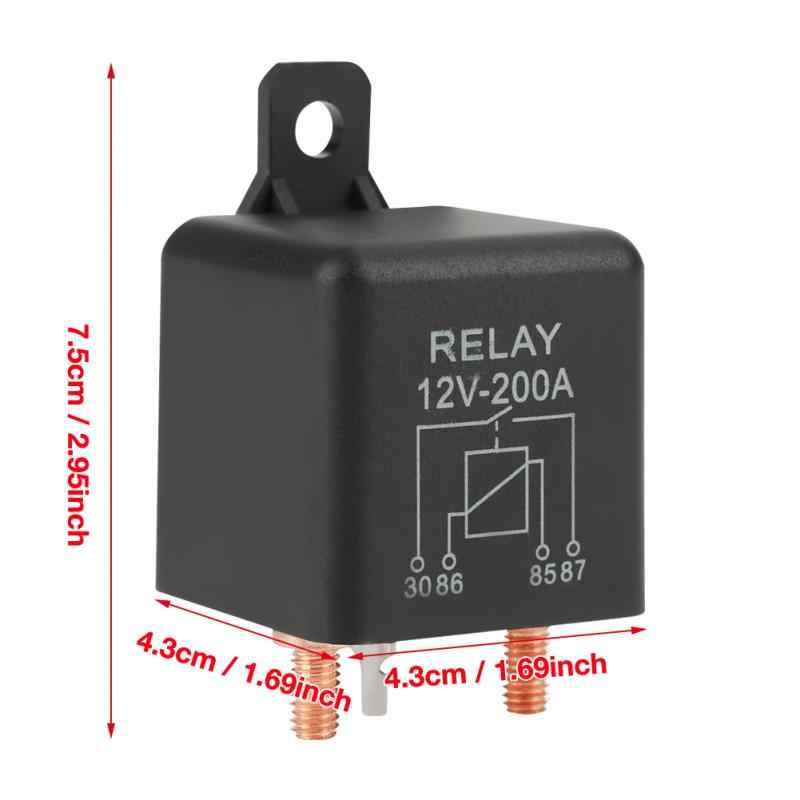 Hot 12V 200A Normal Terbuka Tugas Berat Mobil Truk Starter Relay dengan Terminal