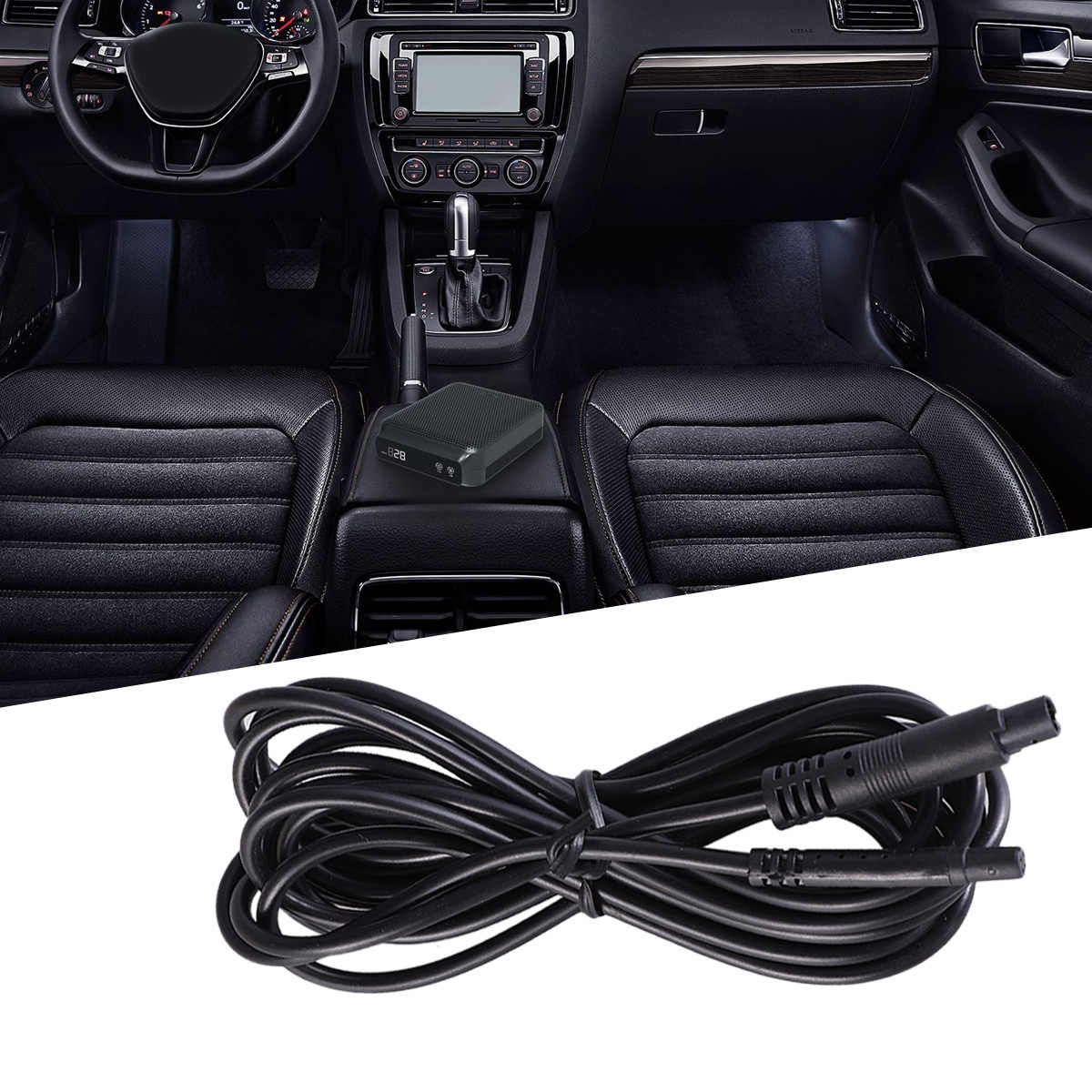 2.5m Extension Cable For Rear View Backup Dash Cam Reverse Car Recorder Camera Cord 4 Pins For 12V 24V Truck Trailer Camper Van