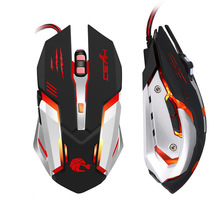 LED USB Optical Computer Mouse 6 Button 5500 DPI Professional Wired Gaming Mice Cable Gamer PC for Laptop LOL