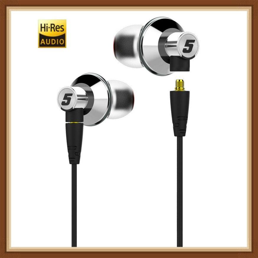 DUNU TITAN 5 HiFi écouteur stéréo hi-res Audio dynamique Nano titane diaphragme intra-auriculaires casque DJ métal avec câble de remplacement