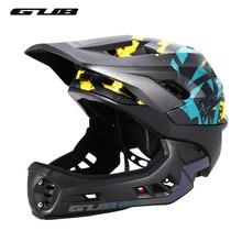 Gub ff capacete de bicicleta crianças equilíbrio carro completo capacete integralmente moldado acessórios de ciclismo ao ar livre dos homens capacete de bicicleta 48 57cm